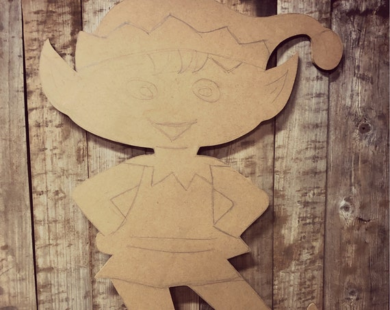 Unfinished , Elf, Christmas, Decor, Character, Santa, Door, Hanger, Diy, Wood, Blank, Holiday, Decor, Paint, Party, Wholesale, DT2139