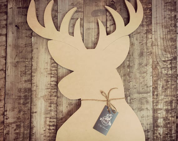 Unfinished, Buck, Deer, Door, Hanger, DIY, Blank, Wood, Cut, Out, Ready, To, Paint, Custom,Wholesale