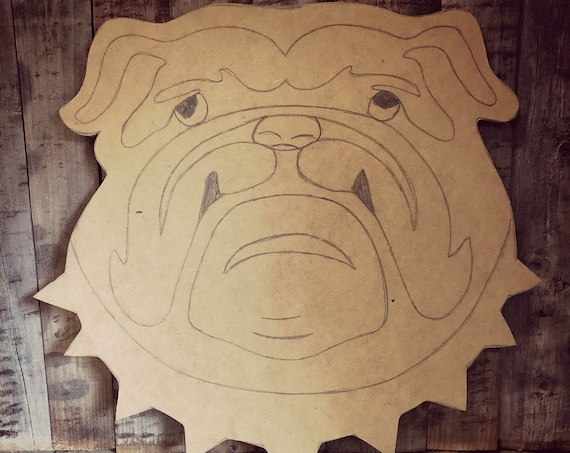 Unfinished, Bulldog, Door, Hanger, Football, Georgia, Mississippi, DIY, Blank, Wood, Cut, Out, Ready, To, Paint, Custom,Wholesale