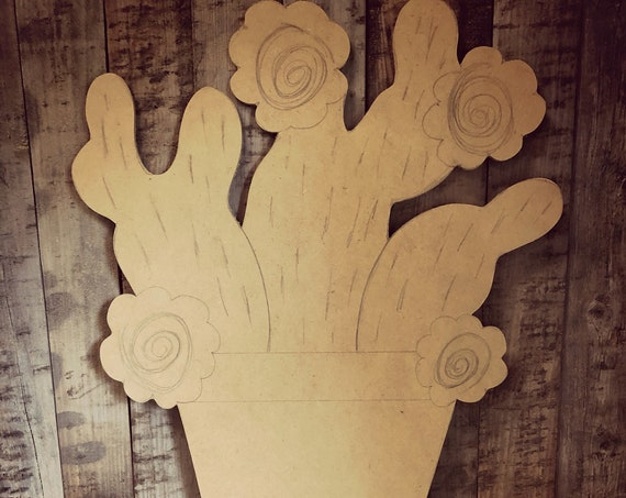 Unfinished, Cactus, Door, Summer, Trending, Fall, DIY, Blank, Wood, Cut, Out, Ready, To, Paint, Custom, Wholesale