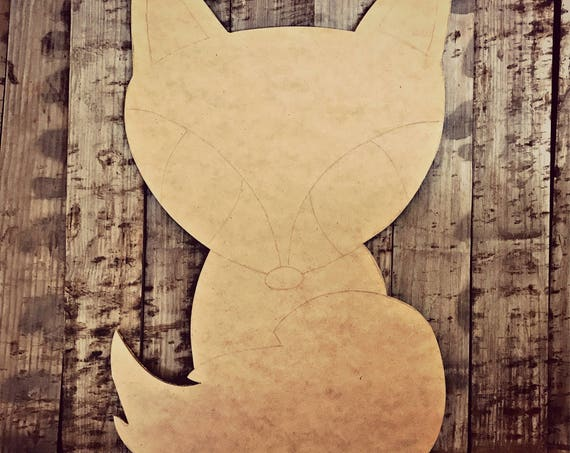 Unfinished, Fox, Door, Hanger, Fall, Baby, Announcement, DIY, Blank, Wood, Cut, Out, Ready, To, Paint, Custom,Wholesale