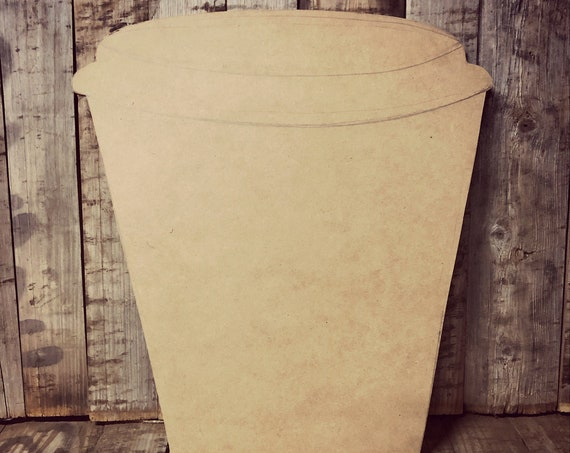 Unfinished, Coffee, Cup, Door, Hanger, DIY, Blank, Wood, Cut, Out, Ready, To,  Paint, Fall, Summer, Christmas, Custom