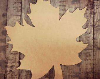 Unfinished, Leaf, Door, Hanger, Fall, Halloween, Wood, Paint, Custom, DIY, Blank, Cut, Out, DT2060