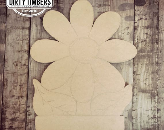 Unfinished, Flower, Door, Hanger, Summer, Beach, DIY, Blank, Wood, Cut, Out, Ready, To, Paint, Custom, Wholesale