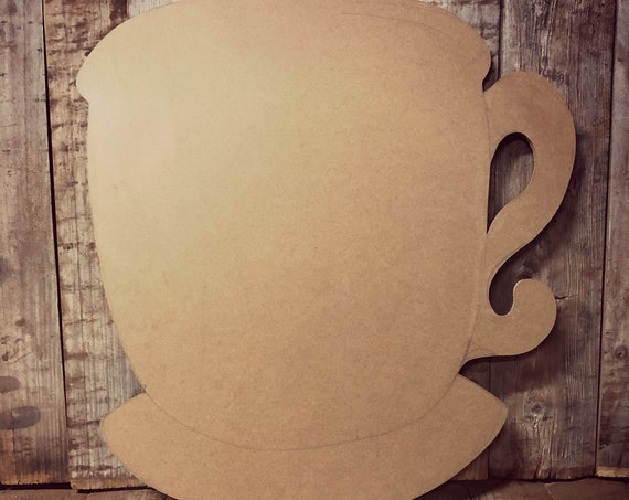 Unfinished, Coffee, Tea, Cup, Door, Hanger, DIY, Blank, Wood, Cut, Out, Ready, To, Paint, Fall, Summer, Christmas, Custom, Wholesale