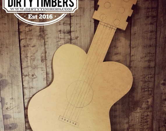 Unfinished, Guitar, Door, Hanger, Music, Instrument, Fall, DIY, Blank, Wood, Cut, Out, Ready, To, Paint, Custom, Wholesale