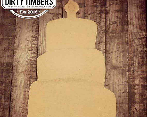 Unfinished , Birthday, Cake, Decor, Celebration, Door, Hanger, Diy, Wood, Blank, Holiday Decor, Paint, Party, Wholesale