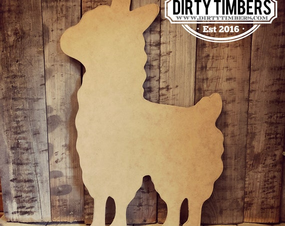 Unfinished, Llama, Baby, Announcement, Birthday, Party, Door, Hanger, DIY, Blank, Wood, Cut, Out, Ready, To, Paint, Custom, Wholesale