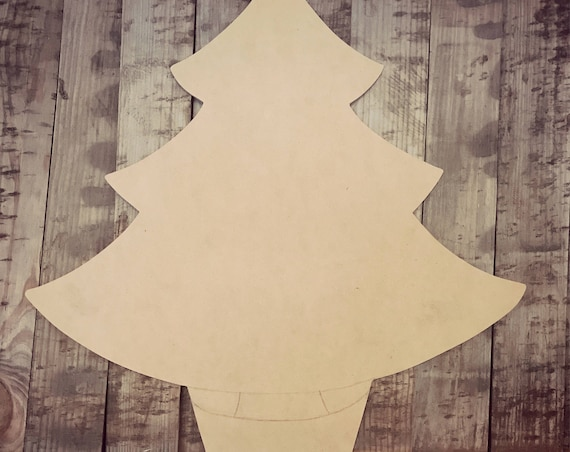 Unfinished, Christmas, Tree, Door, Hanger, Holiday, DIY, Blank, Wood, Cut, Out, Ready, To, Paint, Custom,Wholesale
