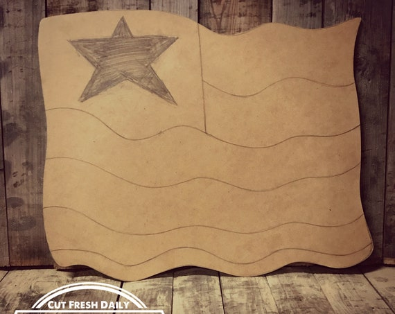 Unfinished, American, Flag, Four Of July, Door, Hanger, Summer, DIY, Blank, Wood, Cut, Out, Ready, To, Paint, Custom, Wholesale