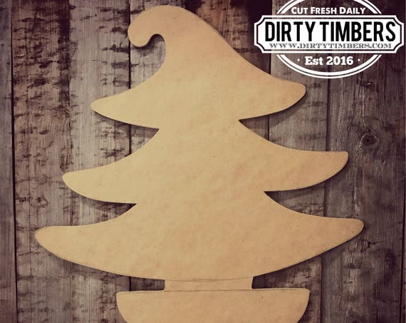 Unfinished, Tree, Door, Hanger, Christmas, Winter, Whimical, DIY, Blank, Wood, Cut, Out, Ready, To, Paint, Custom, Wholesale