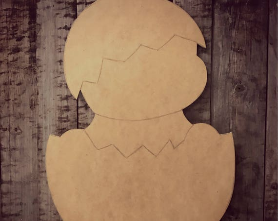 Unfinished, Chick, Door, Hanger, Spring, Easter, Baby, DIY, Blank, Wood, Cut, Out, Ready, To, Paint, Custom, Wholesale