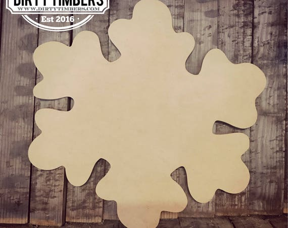Unfinished, Snowflake, Christmas, Holidays, Ready to Paint, Canvas, Door, Hanger, Decor, DIY, Blank, Cut Out, Wholesale