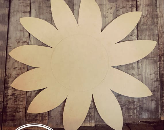 Unfinished, Flower, Door, Hanger, Summer, Beach, Spring, DIY, Blank, Wood, Cut, Out, Ready, To, Paint, Custom,Wholesale