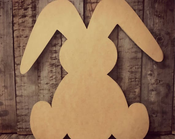 Unfinished, Bunny, Rabbit, Door, Hanger, Easter, Spring, Baby, DIY, Blank, Wood, Cut, Out, Ready, To, Paint, Custom,Wholesale