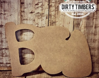 Unfinished, Boo, Kids, Craft, Small, Door, Hanger, Wreath, Halloween, Party, DIY, Blank, Wood, Cut, Out, Ready, To, Paint
