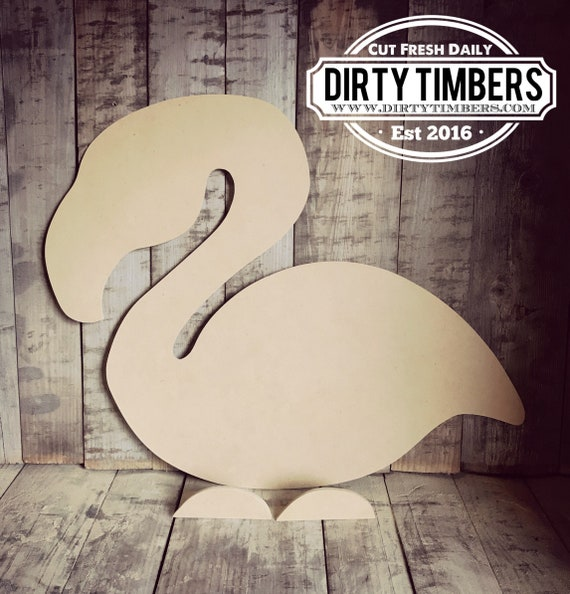 Unfinished, Flamingo, Door, Hanger, Summer, Beach, Party, DIY, Blank, Wood, Cut, Out, Ready, To, Paint, Custom, Wholesale