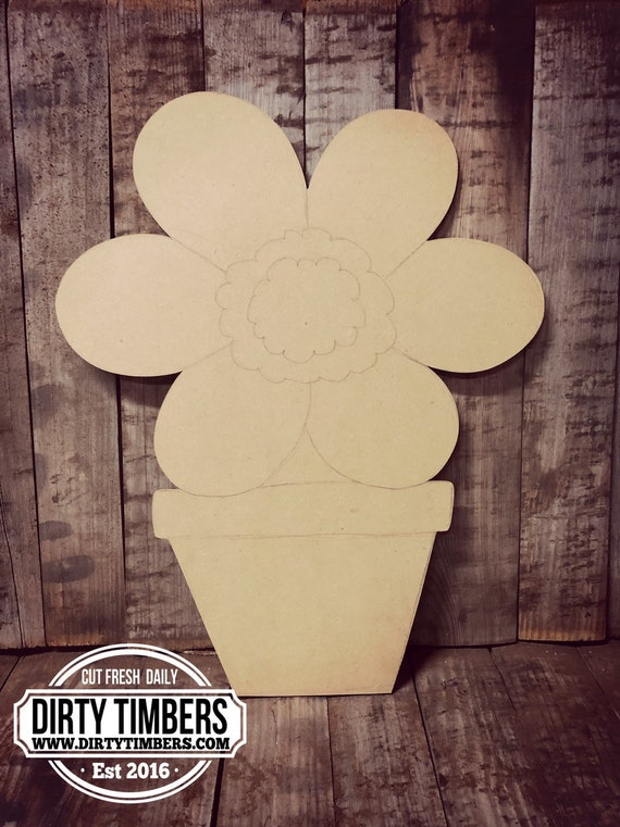 Unfinished, Flower Pot, Door, Hanger, DIY, Blank, Wood, Cut, Out, Ready, To, Paint, Fall, Summer, Christmas, Custom, Wholesale