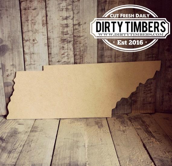 Unfinished, Tennessee, Door, Hanger, State, DIY, Blank, Wood, Cut, Out, Ready, To, Paint, Custom, Wholesale