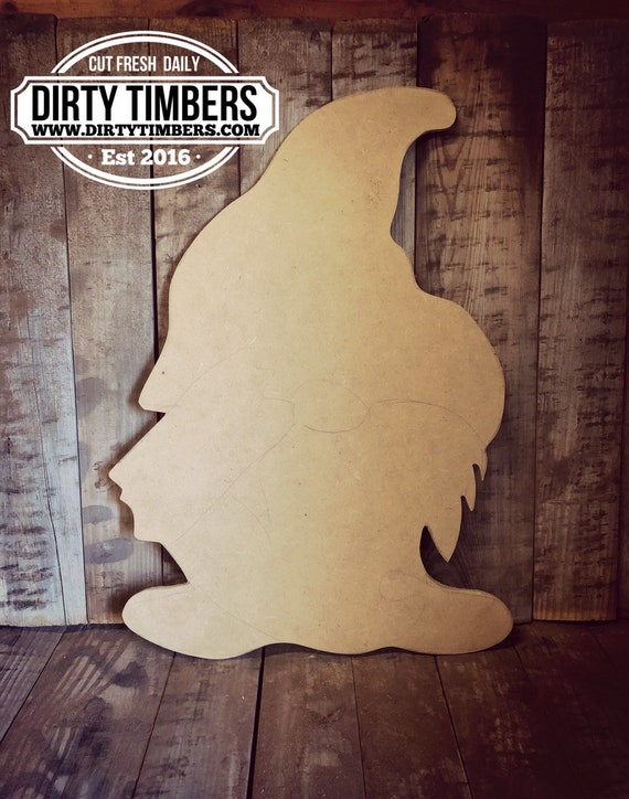 Unfinished, Gnome, Door, Hanger, Summer, Garden, Farmhouse, DIY, Blank, Wood, Cut, Out, Ready, To, Paint, Custom, Wholesale, DT2127