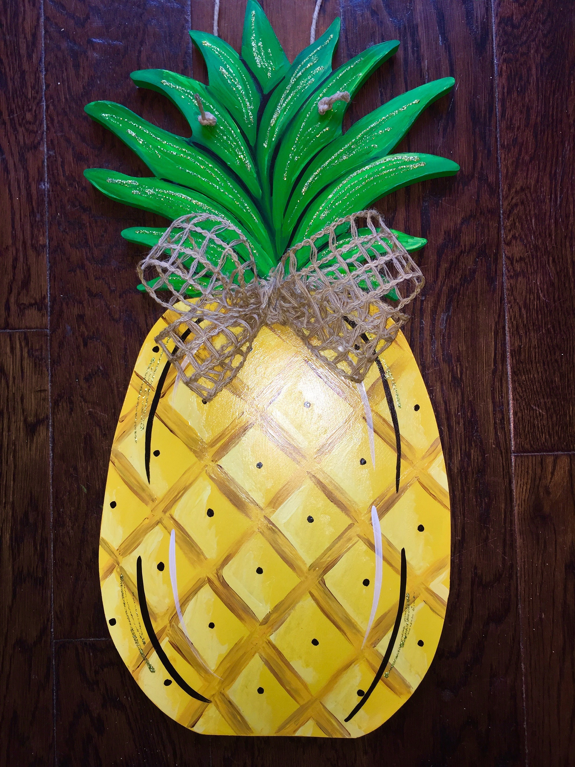 Bon Unfinished, Pineapple, Door, Hanger, Summer, Beach, DIY, Blank, Wood, Cut,  Out, Ready, To, Paint, Custom, Wholesale