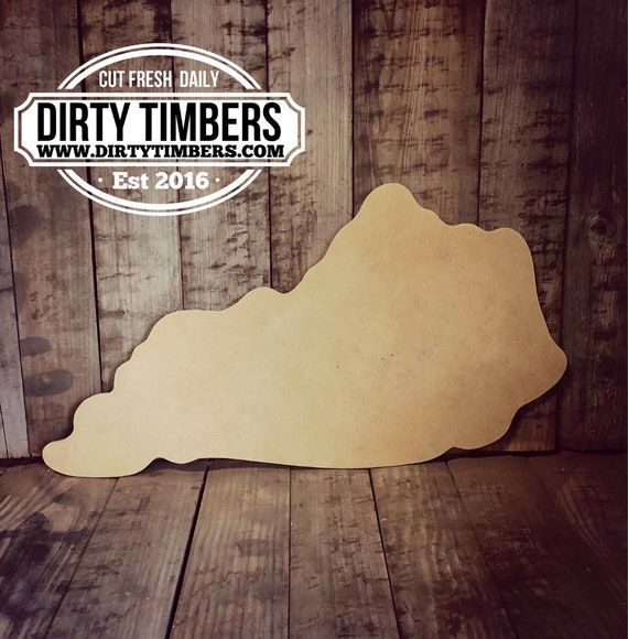 Unfinished, Kentucky, State, Cut, Out, Blank, Ready, Paint, Blank, Door, Hanger, DIY, Wood, Blank, Wholesale