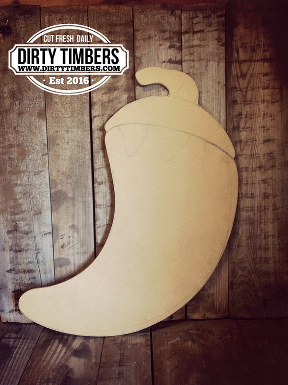 Unfinished, Chili Pepper, Hot Sauce, Door, Hanger, Summer, Farmhouse, DIY, Blank, Wood, Cut, Out, Ready, To, Paint, Custom, Wholesale