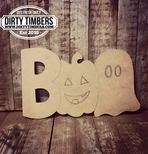 Unfinished, Boo, Ghost, Door, Hanger, Pumpkin, Fall, Halloween, DIY, Blank, Wood, Cut, Out, Ready, To, Paint, Custom, Wholesale, DT2104