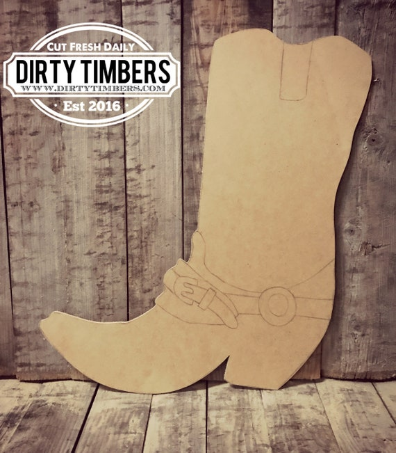 Unfinished, Boots, Rodeo, Cowboy, Western, Door, Hanger, Summer, DIY, Blank, Wood, Cut, Out, Ready, To, Paint, Custom, Wholesale