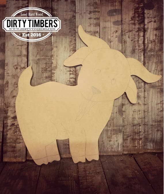 Unfinished, Baby, Goat, Farm, Animals, Door, Hanger, DIY, Blank, Wood, Cut, Out, Ready, To, Paint, Custom, Wholesale