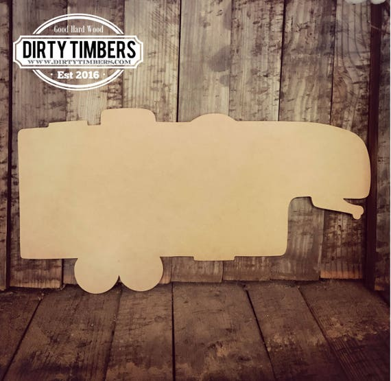 Unfinished, Camper, Large, Fifth, Wheel, Diy, Wood, Blank, Cut, Out, Ready to Paint, DIY, Custom, Door, Hanger, Wholesale