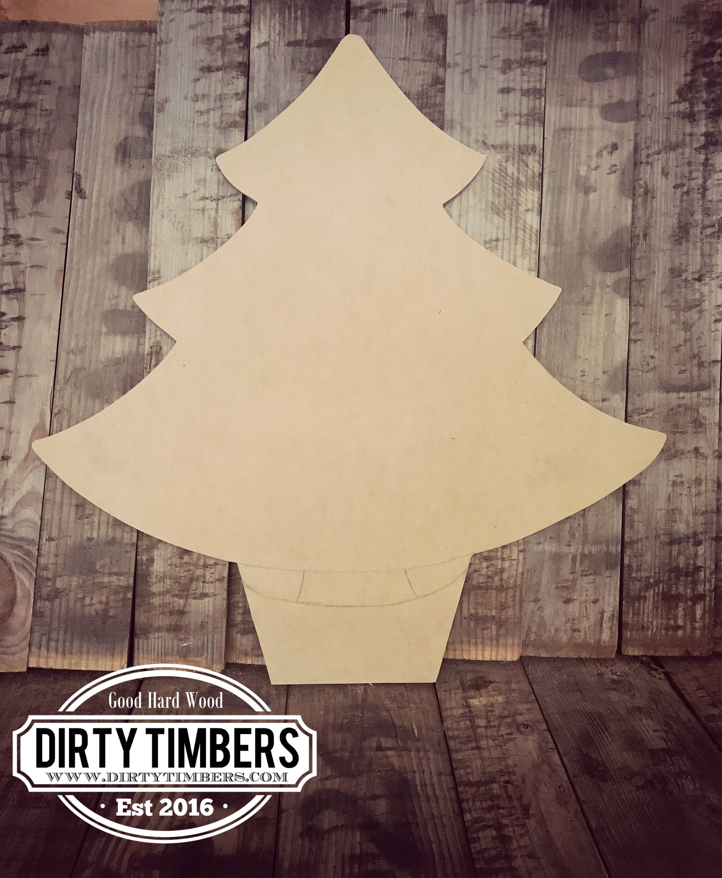 Unfinished Christmas Tree Door Hanger Holiday Diy Blank Wood Cut Out Ready To Paint Custom Wholesale
