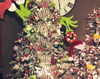 Unfinished, Grinch, Christmas, Tree, Set, Grinchmas, Decor, Character, Ornament, Door, Hanger, Diy, Wood, Blank, Holiday Decor,