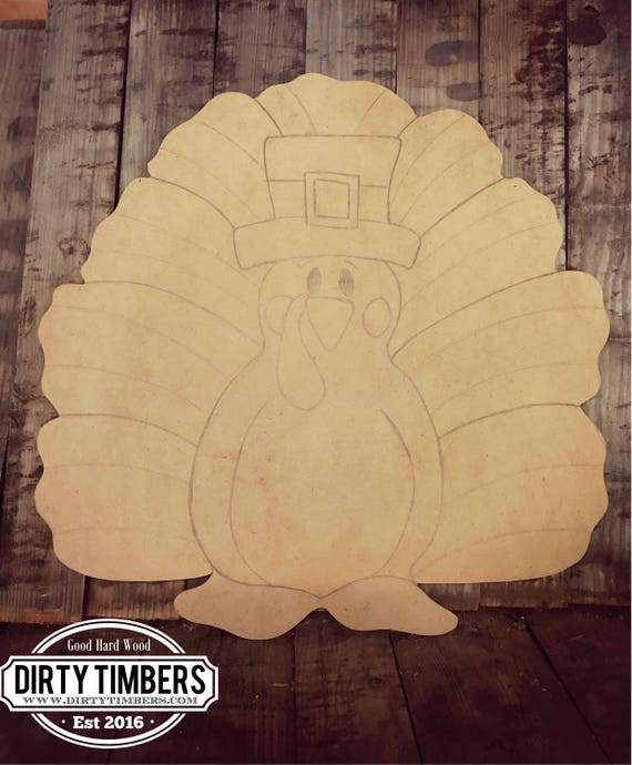Unfinished, Turkey, Fall, Door, Hanger, Thanksgiving, DIY, Blank, Wood, Cut, Out, Ready, To, Paint, Custom, Wholesale