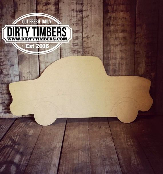 Unfinished, 57 Chevy, Car, Door, Hanger, DIY, Blank, Wood, Cut, Out, Ready, To, Paint, Fall, Summer, Christmas, Custom, Wholesale