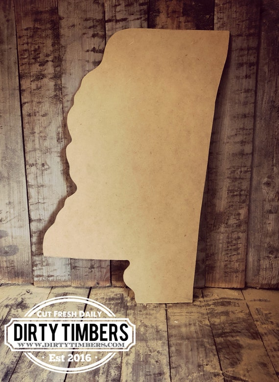 Unfinished, Mississippi, Door, Hanger, State, Football, DIY, Blank, Wood, Cut, Out, Ready, To, Paint, Custom, Wholesale