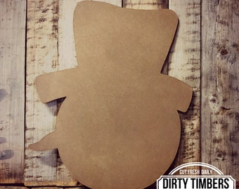 Unfinished , Frosty, Christmas, Decor, Character, Snowman, Door, Hanger, Diy, Wood, Blank, Holiday, Decor, Paint, Party, Wholesale, DT2138
