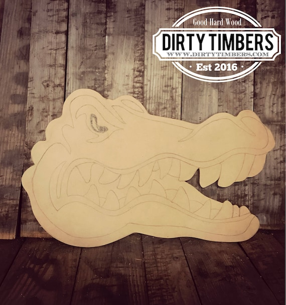 Unfinished, Gator, Head, Football, Door, Hanger, Alligator, DIY, Blank, Wood, Cut, Out, Ready, To, Paint, Custom,Wholesale