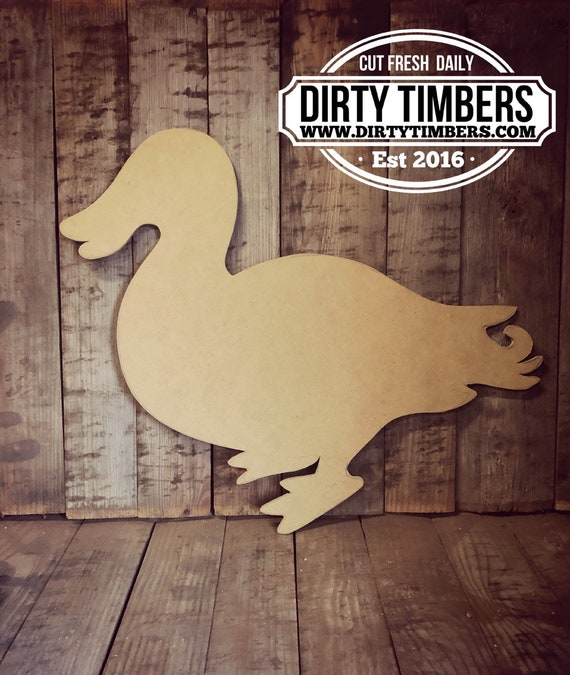 Unfinished, Duck, Drake, Baby, Door, Hanger, Summer, Birthday, Party, DIY, Blank, Wood, Cut, Out, Ready, To, Paint, Custom, Wholesale
