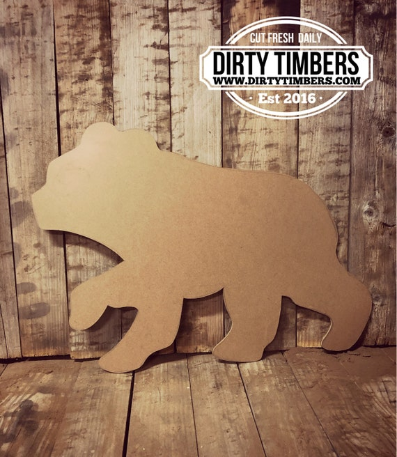 Unfinished, Bear, Baby, Announcement, Door Hanger, Ready To Paint, Decor, DIY, Blank, Holiday Decor, Paint Blank, Wood, Cut, Out  DT2056