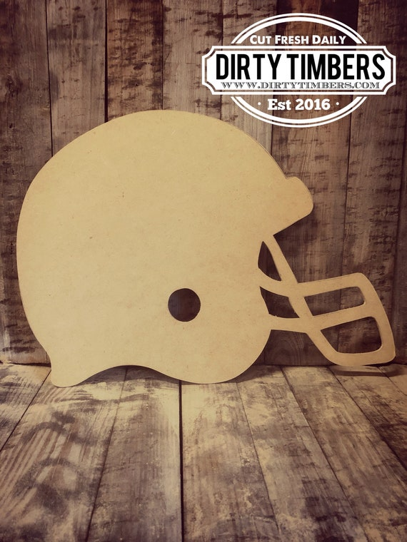 Football, Helmet, Door Hanger, Nfl, Unfinished, Ready to Paint, Decor, Sports, Cheerleading, DIY, Custom, Wood, Blank, Hand Cut Out, DT2041