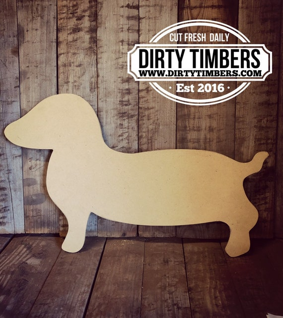 Unfinished, Dachshund, Dog, Pet, Door, Hanger, DIY, Blank, Wood, Cut, Out, Ready, To, Paint, Custom, Wholesale