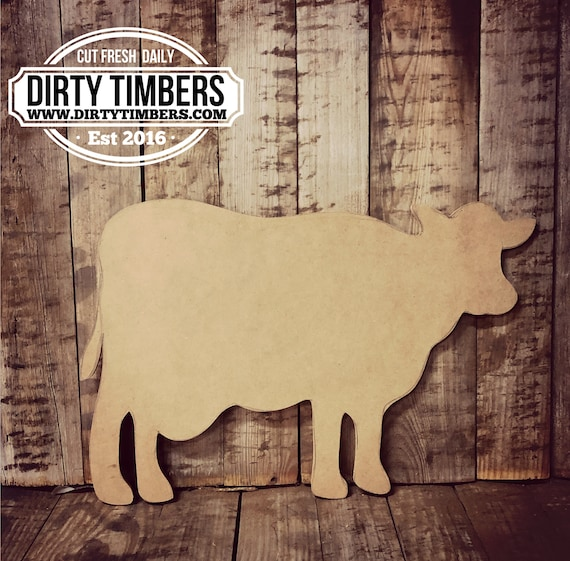 Unfinished, Cow, Farmhouse, Door, Hanger, DIY, Blank, Wood, Cut, Out, Ready, To,  Paint, Fall, Summer, Christmas, Custom