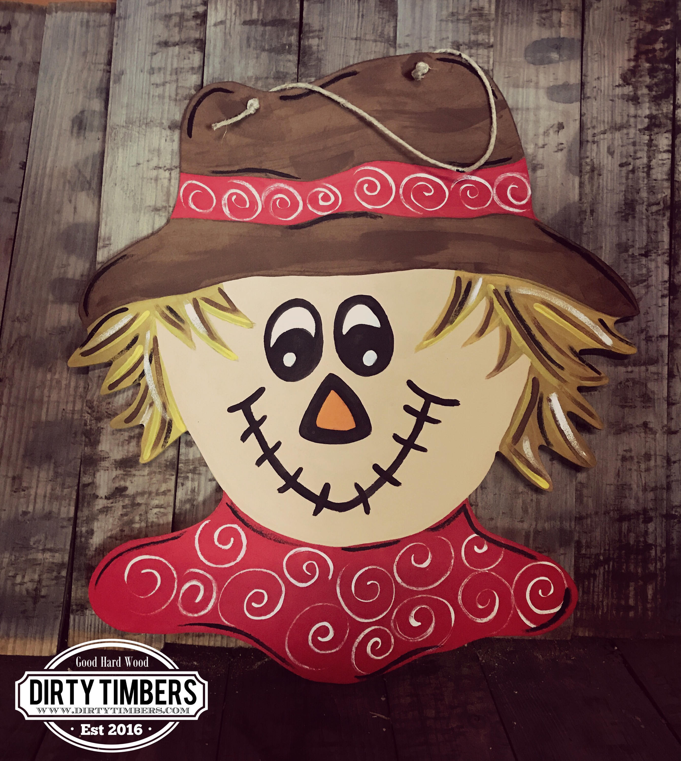 Unfinished Scarecrow Door Hanger Teacher Fall School