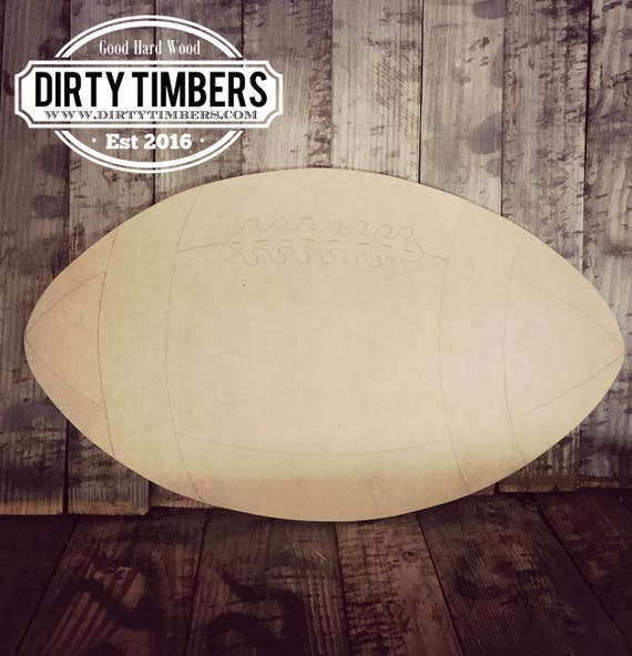 Unfinished, Football, Ready to Paint, Blank, DIY, Door Hanger, Sports, Football, Decor, NFL, Wood, Blank, Custom, Cut Out, DT203