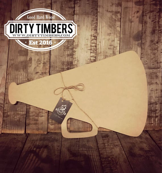 Unfinished, Megaphone, Door, Hanger, Summer, Beach, DIY, Blank, Wood, Cut, Out, Ready, To, Paint, Custom,Wholesale