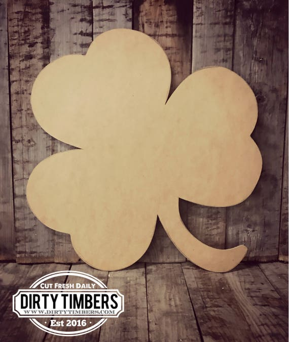 Unfinished, Clover, 4 Leaf, St. Patrick's, Day, Door, Hanger, DIY, Blank, Wood, Cut, Out, Ready, To, Paint, Custom, Wholesale