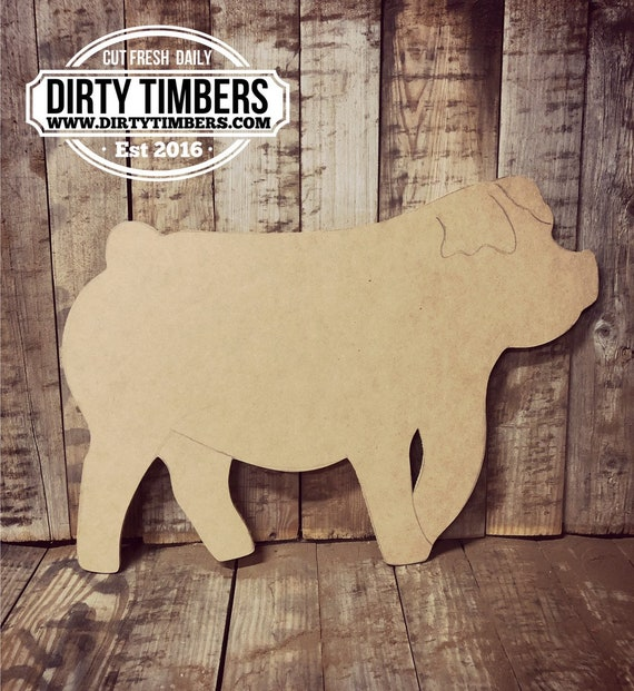 Unfinished, Pig, Farmhouse, Door, Hanger, DIY, Blank, Wood, Cut, Out, Ready, To, Paint, Fall, Summer, Christmas, Custom, Wholesale