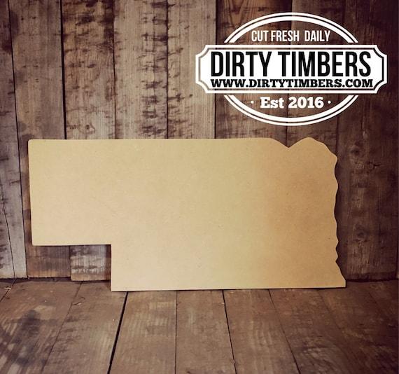 Unfinished, Nebraska, Blank, State, Cut, Out, Ready, Paint, Blank, Door, Hanger, DIY, Wood, Blank, Wholesale
