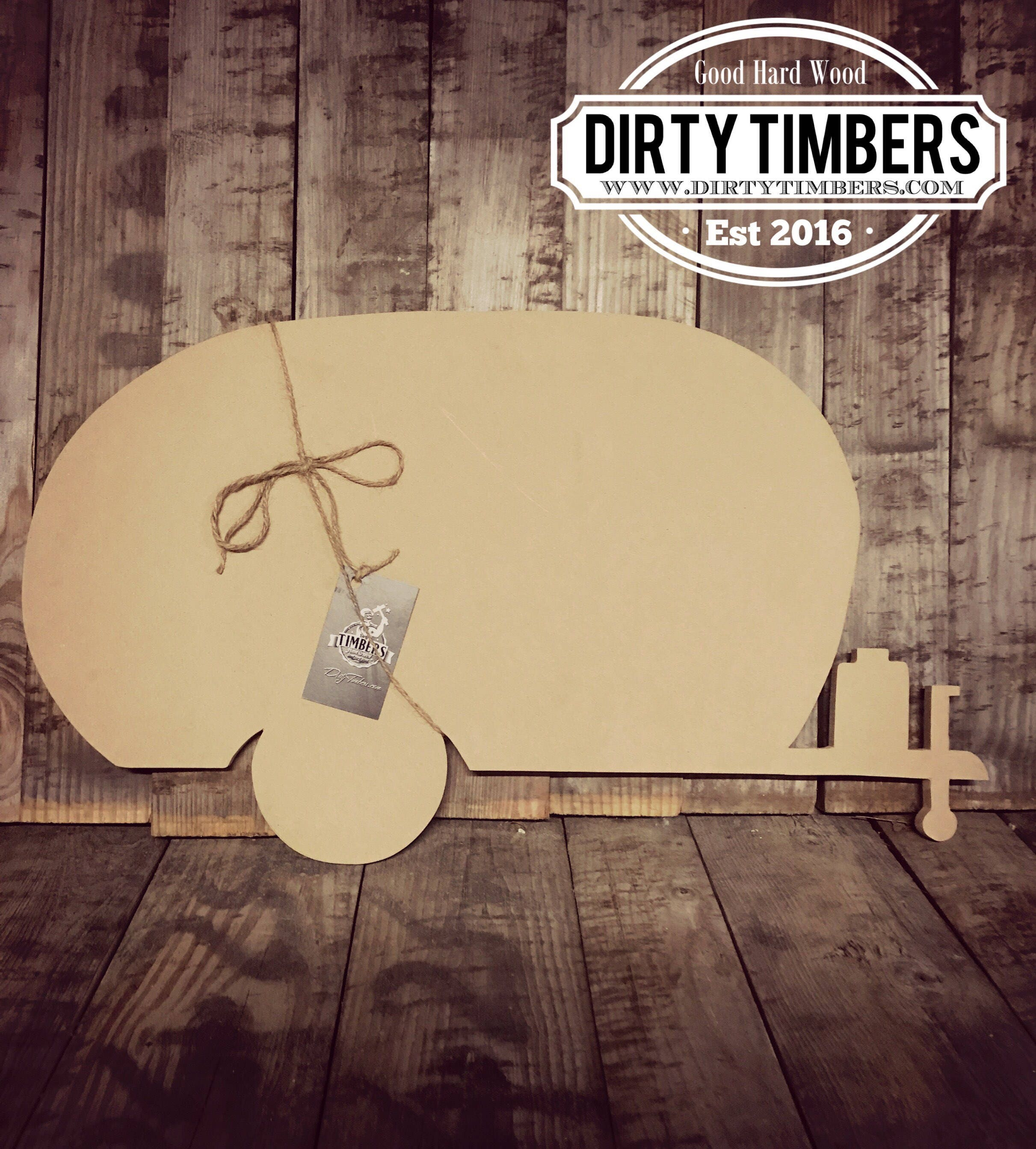 Unfinished, Camper, Large, Diy, Wood, Blank, Cut, Out, Ready To Paint, DIY,  Custom, Door, Hanger, DT2079